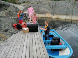 Koffertransport mit dem Boot