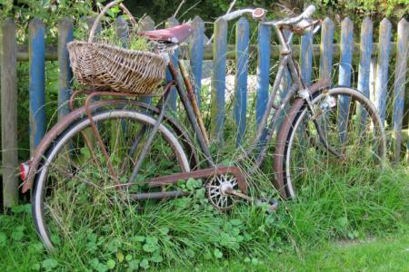 Idylle mit Fahrrad