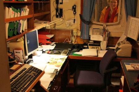 Büro der MS Nordstjernen