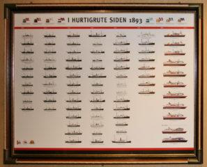 Schiffe der Hurtigrute seit 1893 (bis 2008)