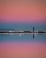 21.10.2016 - Flughafen Oakland, von San Leandro Marina aus. (25s @f/8)