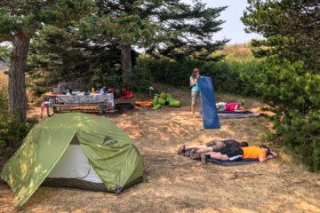 2.8.2017 - Campsite auf Blind Island (Tag 3: 15 km)