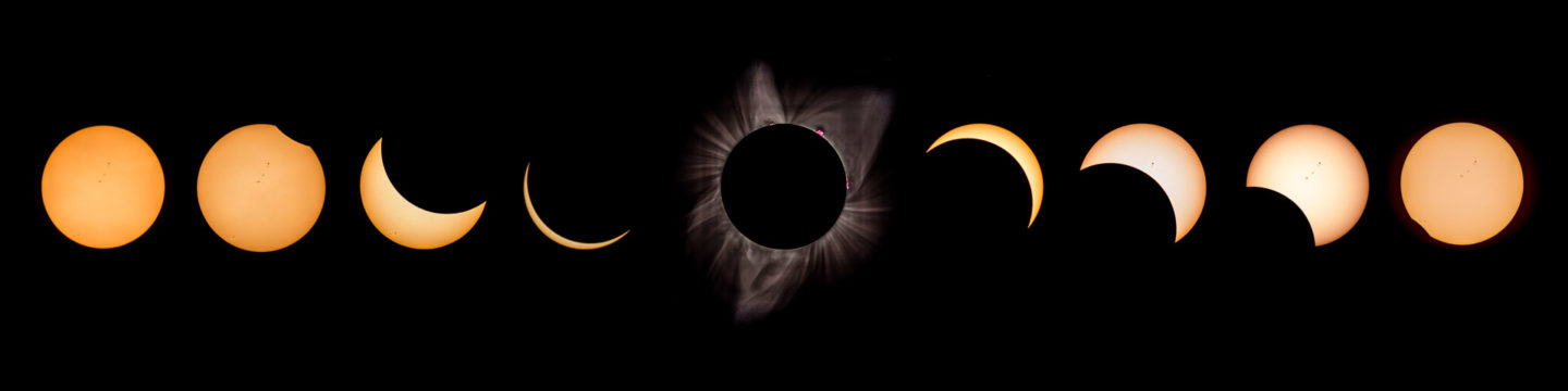 21.8.2018 - Eclipse in Madras. 9:10 Uhr - 11:40 Uhr