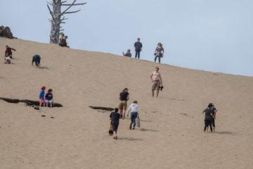 14.8.2017 - Cape Kiwanda Natural Park, Aufstieg zum Sandboarding