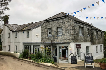 28.10.2017 - Helford Wanderung, South Cafe in Manaccan