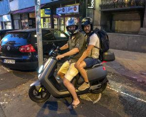 6.8.2018: Luis und Flo auf dem Roller