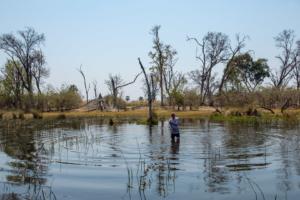 3.9.2019 - Kayak Tag 4, Michael kühlt sich im River ab