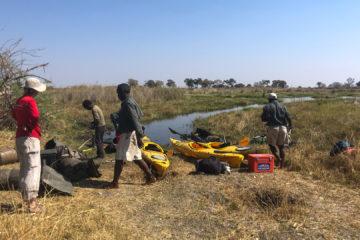 4.9.2019 - Kayak Tag 5, ein Hippo zwingt uns, alles über Land zu tragen