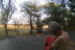 16.9.2019 - Livingstone's Camp, #1 - erwischt von der Wildkamera ;-)
